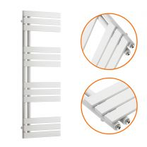1180 x 400mm White Flat Panel Bathroom Towel Radiator