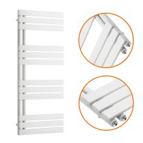 1180 x 500mm White Flat Panel Bathroom Towel Radiator