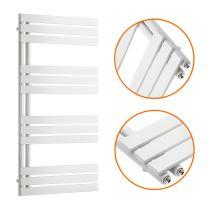 1180 x 600mm White Flat Panel Bathroom Towel Radiator