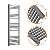 1200 x 400mm Straight Anthracite Heated Towel Rail