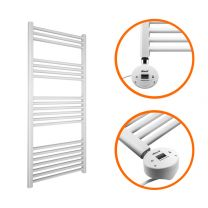 1200 x 400mm Electric White Heated Towel Rail