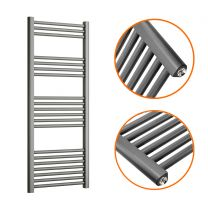 1200 x 500mm Straight Anthracite Heated Towel Rail