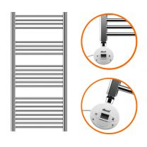 1200 x 500mm Electric Chrome Heated Towel Rail