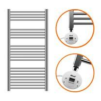 1200 x 600mm Electric Chrome Heated Towel Rail