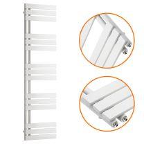 1510 x 400mm White Flat Panel Bathroom Towel Radiator