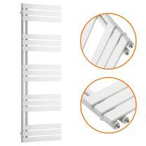 1510 x 500mm White Flat Panel Bathroom Towel Radiator