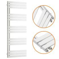 1510 x 600mm White Flat Panel Bathroom Towel Radiator