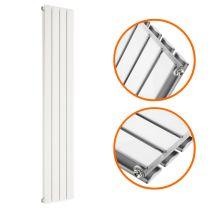 1600 x 280mm White Double Flat Panel Vertical Radiator