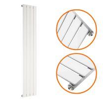 1780 x 280mm White Single Flat Panel Vertical Radiator