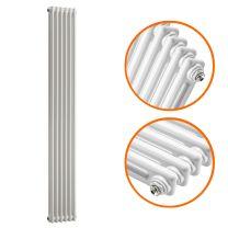 1500 x 293mm White Vertical Traditional 2 Column Radiator