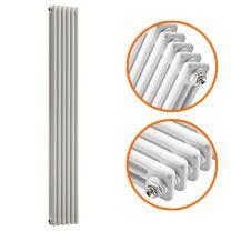 1800 x 293mm White Vertical Traditional 3 Column Radiator