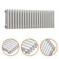 300 x 1013mm White Horizontal Traditional 3 Column Radiator