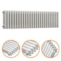 300 x 1193mm White Horizontal Traditional 3 Column Radiator