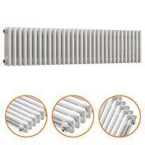 300 x 1508mm White Horizontal Traditional 3 Column Radiator