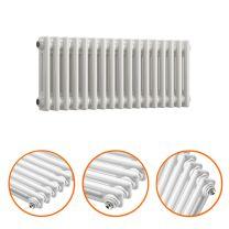 300 x 788mm White Horizontal Traditional 2 Column Radiator