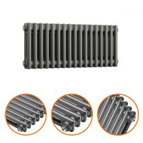 300 x 788mm Anthracite Horizontal Traditional 2 Column Radiator