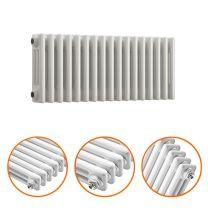 300 x 788mm White Horizontal Traditional 3 Column Radiator