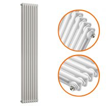 1800 x 383mm White Vertical Traditional 2 Column Radiator
