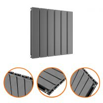 400 x 420mm Anthracite Double Flat Panel Horizontal Radiator