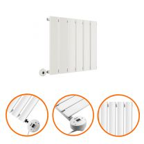 400 x 420mm Electric White Single Flat Panel Horizontal Radiator