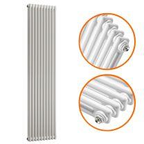 1500 x 470mm White Vertical Traditional 2 Column Radiator