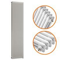 1500 x 470mm White Vertical Traditional 3 Column Radiator