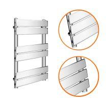 650 x 400mm Flat Panel Chrome Ladder Towel Radiator