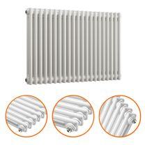 600 x 1013mm White Horizontal Traditional 2 Column Radiator