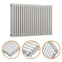 600 x 1013mm White Horizontal Traditional 3 Column Radiator