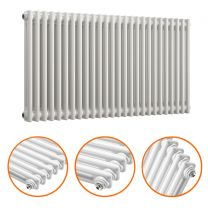 600 x 1193mm White Horizontal Traditional 2 Column Radiator