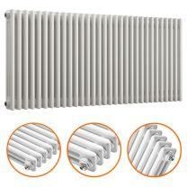 600 x 1508mm White Horizontal Traditional 3 Column Radiator