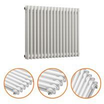 600 x 788mm White Horizontal Traditional 2 Column Radiator