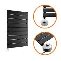 630 x 400mm Electric Black Single Flat Panel Vertical Radiator
