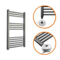 800 x 400mm Electric Anthracite Heated Towel Rail