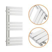 850 x 400mm White Flat Panel Bathroom Towel Radiator