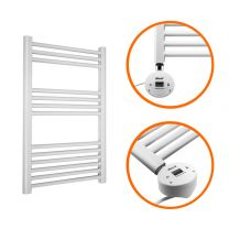 800 x 500mm Electric White Heated Towel Rail