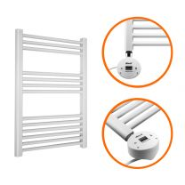 800 x 600mm Electric White Heated Towel Rail
