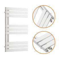 850 x 500mm White Flat Panel Bathroom Towel Radiator