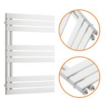 850 x 600mm White Flat Panel Bathroom Towel Radiator