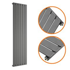 1780 x 420mm Anthracite Single Flat Panel Vertical Radiator