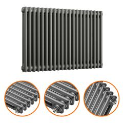 600 x 1013mm Anthracite Horizontal Traditional 2 Column Radiator