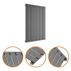 635 x 420mm Anthracite Single Flat Panel Horizontal Radiator